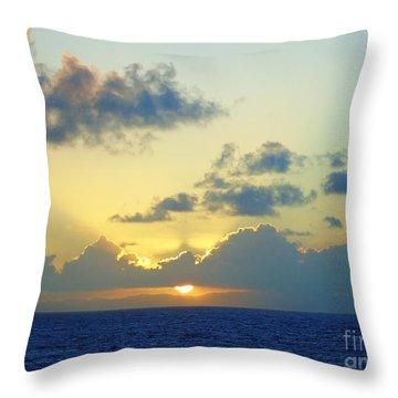 Pacific Sunrise, Japan Throw Pillow