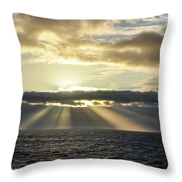 Pacific Sunset Throw Pillow by Allen Carroll
