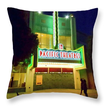 Throw Pillow featuring the photograph Pacific Theater - Culver City by Chuck Staley