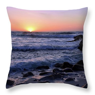 Pacific Twilight Throw Pillow by Gina Savage