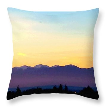 Pacific Twilight Throw Pillow