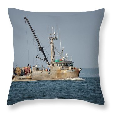 Pacific Viking Throw Pillow
