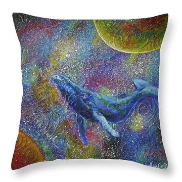 Pacific Whale In Space Throw Pillow