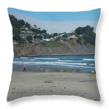 Throw Pillow featuring the photograph Pacifica California by David Bearden
