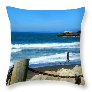 Throw Pillow featuring the photograph Pacifica Coast by Glenn McCarthy Art and Photography