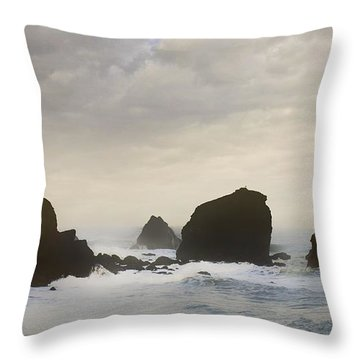 Pacifica Surf Throw Pillow by John Hansen