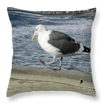 Pacing Throw Pillow