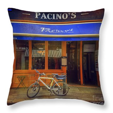Throw Pillow featuring the photograph Pacino's Garda Bicycle by Craig J Satterlee