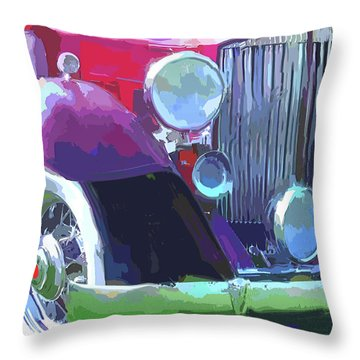 Packard Close Up Pop Throw Pillow