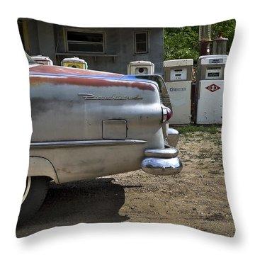 Packard Throw Pillow by Skip Hunt