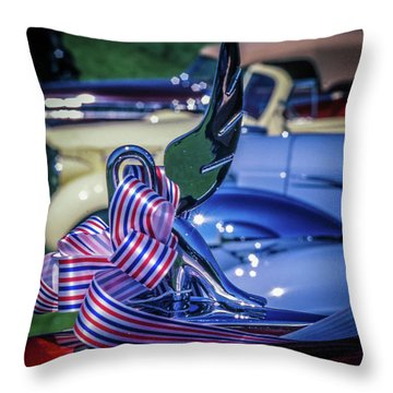 Packard Swan Throw Pillow