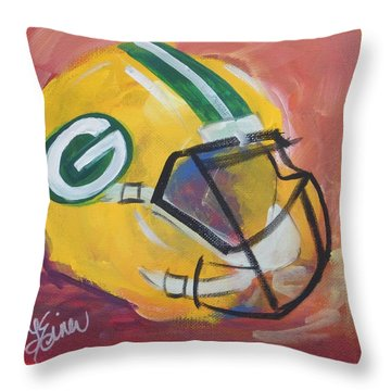 Packer Helmet Throw Pillow