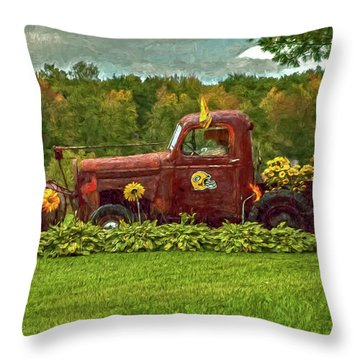 Packers Plow Throw Pillow