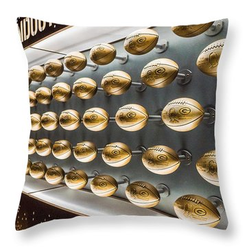 Packers Wall Of Fame Throw Pillow