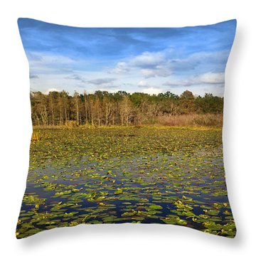 Throw Pillow featuring the photograph Pad City by Steve Sperry