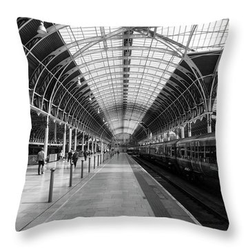 Throw Pillow featuring the photograph Paddington Station by Joe Paul