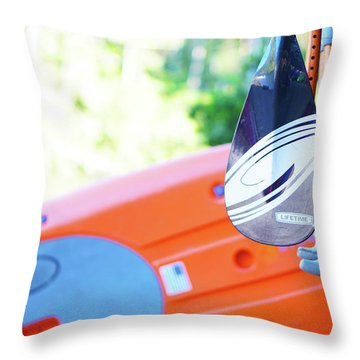 Paddle Throw Pillow by Angi Parks