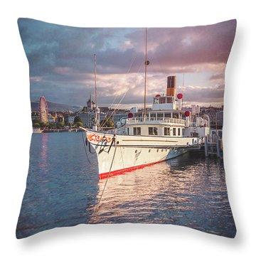 Lake Geneva Throw Pillows