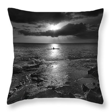 Paddle To The Sun Throw Pillow