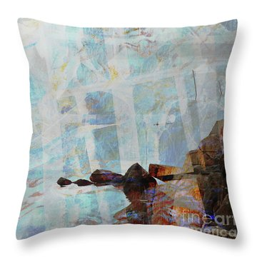 Paddleboarding Throw Pillow by Robert Ball