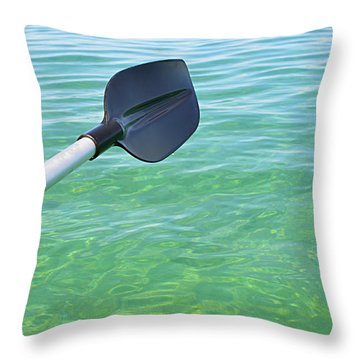 Throw Pillow featuring the photograph Paddling Grand Traverse Bay by SimplyCMB