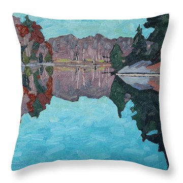 Paddling Home Throw Pillow