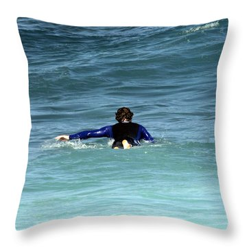 Paddling Out Throw Pillow