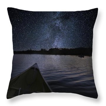 Paddling The Milky Way Throw Pillow
