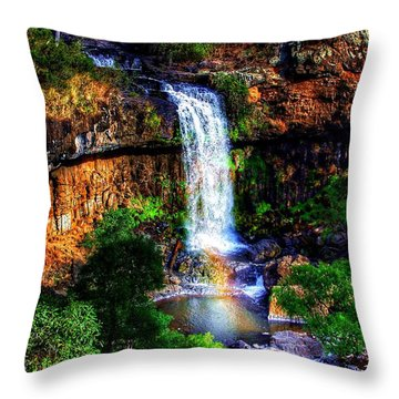 Paddy's Falls Throw Pillow by Blair Stuart