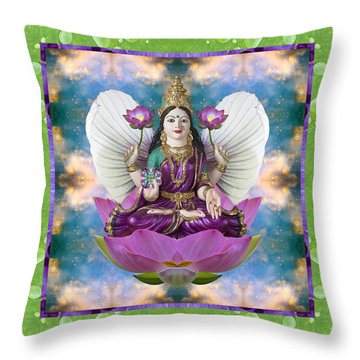 Throw Pillow featuring the photograph Padma Lotus by Bell And Todd