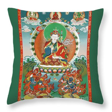 Padmasambhava Throw Pillow