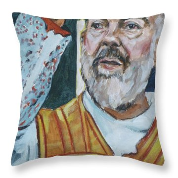 Padre Pio Throw Pillow