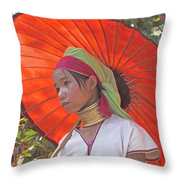 Paduang Teen Throw Pillow