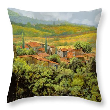 Paesaggio Toscano Throw Pillow by Guido Borelli