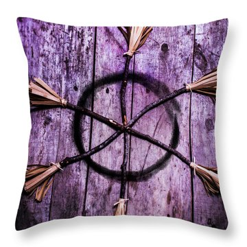 Pagan Or Witchcraft Symbol For A Gathering Throw Pillow