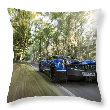 Pagani Huayra Road Trip Throw Pillow