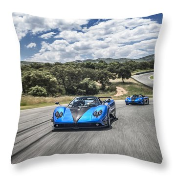 Pagani Zonda Hh And Koenigsegg Agera Hh Throw Pillow