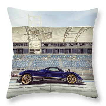 Pagani Zonda In Bahrain Throw Pillow