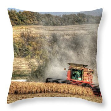 Page County Iowa Soybean Harvest Throw Pillow