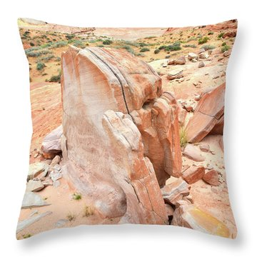 Throw Pillow featuring the photograph Pages Of Stone In Valley Of Fire by Ray Mathis