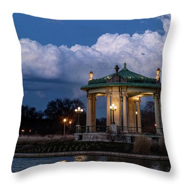 Pagoda At Sunset In Forest Park Throw Pillow by Garry McMichael
