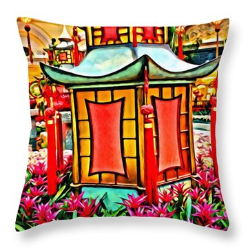 Throw Pillow featuring the photograph Pagoda by Beauty For God
