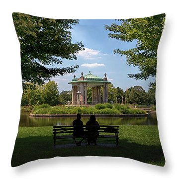 Pagoda Circle Interlude Throw Pillow