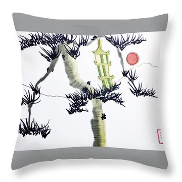 Pagoda Tree Throw Pillow