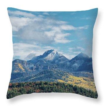 Pagosa Peak Autumn 2014 Throw Pillow
