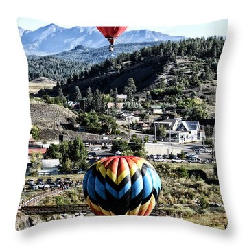 Throw Pillow featuring the photograph Pagosa Springs Colorfest 2015 by Kevin Munro