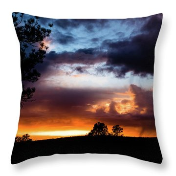 Pagosa Sunset 11-20-2014 Throw Pillow