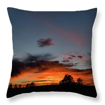 Pagosa Sunset 11-30-2014 Throw Pillow