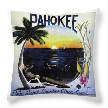 Pahokee Logo Throw Pillow