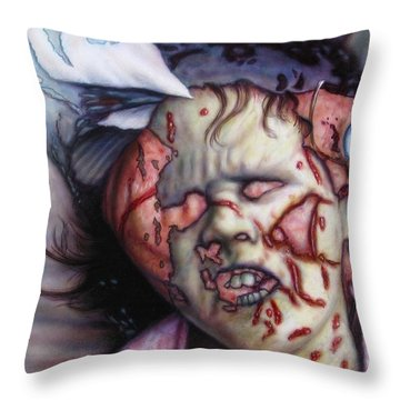 Pain Throw Pillow by James W Johnson